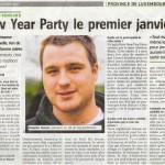 Publicité New Year Party 2012